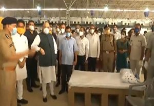 Hours after Delhi CM thanks Centre, Kejriwal and Amit Shah visit world's biggest Covid care facility (VIDEO)