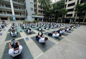 Bangladesh: After 6,000 cops tested Corona positive, police personnel turn to Yoga to boost immunity