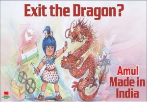 Twitter blocks Amul after 'Exit the Dragon' ad, restores later