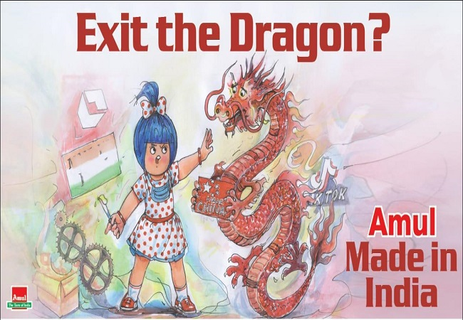 Twitter blocks Amul account after 'exit the dragon' post targeted China