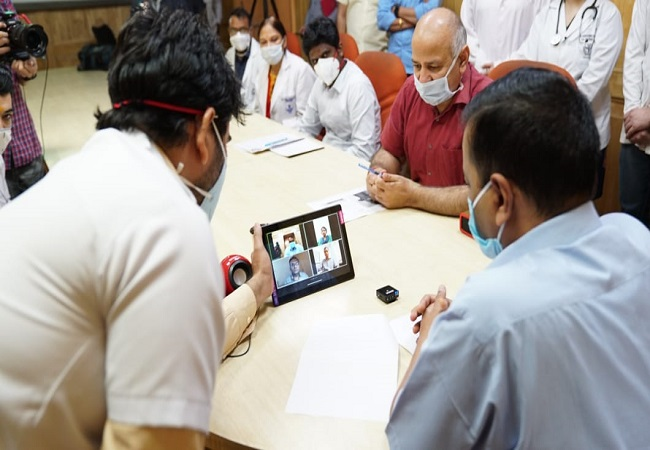 Kejriwal launches video call facility for COVID-19 patients at LNJP Hospital