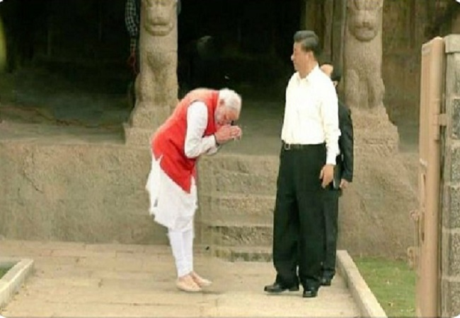 Photo of PM Modi bowing to Chinese President is fake... Here is the fact-check