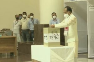 Voting for Rajya Sabha elections: Shivraj Singh, Gehlot and others Vote | See Pics