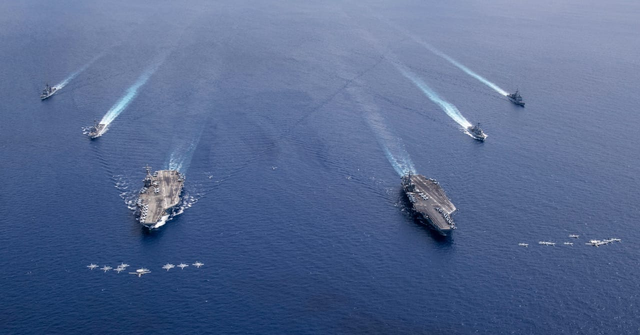 Operations in South China Sea increase warfighting readiness of Reagan and Nimitz squadrons :US Navy official