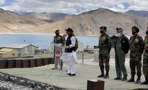'Not an inch of our land can be taken by any power in the world', thunders Defence Minister in Ladakh