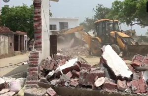 UP gangster Vikas Dubey house demolished -
