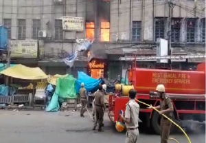 Fire breaks out in Kolkata's Canning Street