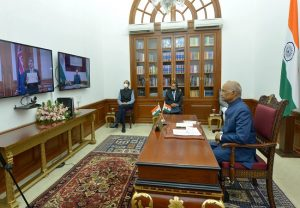President Kovind accepts credentials from envoys from New Zealand, UK, Uzbekistan via video conference
