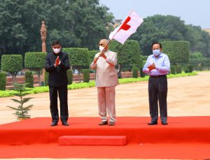 President Kovind flags off Red Cross relief supplies for flood-affected states