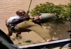 MP floods: IAF rescues three people from inundated house from Balaghat district