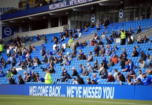 Fans return to stadium for first time since March for Brighton-Chelsea pre-season friendly