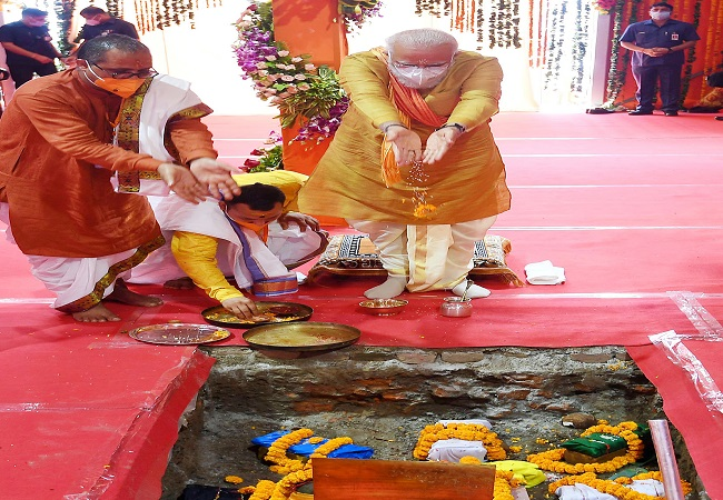 JP Nadda, Rajnath Singh thank PM for fulfilling devotees' wishes by laying foundation stone for Ram Temple