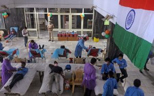 IN PICs: Blood donation camp, dedicated to soldiers, opens at AIIMS