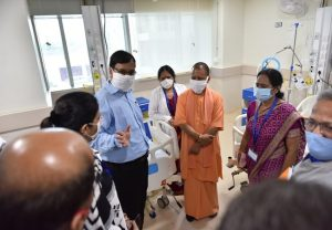 Yogi Adityanath inaugurates Noida's biggest Covid-19 hospital with 400 beds