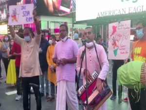Bhajans, Jai Shri Ram chants at Times Square to celebrate 'bhoomi pujan' at Ayodhya