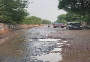 Roads in millennium city filled with potholes… images portray pathetic condition, time for authorities to wake-up
