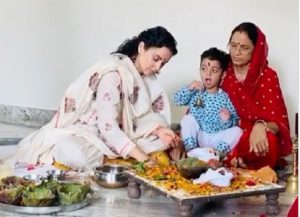 Kangana's mother organises puja at home for her safety