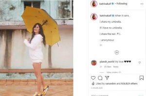 Katrina Kaif steps out in monsoon with umbrella… looks refreshing in white ensemble