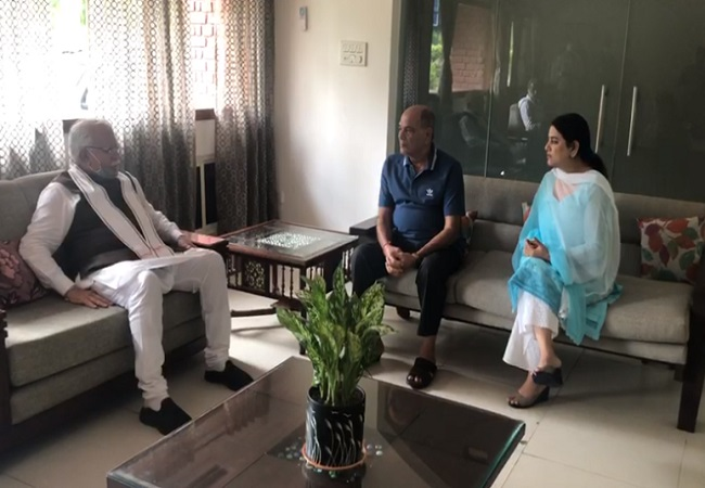 Sushant Singh Rajput father meets Haryana CM --