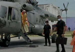 When PM Modi landed in Ayodhya for bhoomi pujan