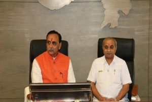 Gujarat CM, Dy CM visit Bhavnagar; review Corona situation with district administration