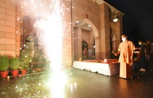 'Diwali' celebration at UP CM's residence before bhoomi pujan (PICs)