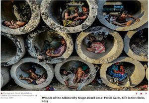 Fact Check: Viral picture of people sitting inside sewer pipes is from Bangladesh, not India