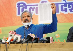 Delhi BJP chief accuses AAP of turning black money into white