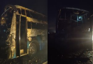 5 dead, 27 injured as bus catches fire in Karnataka's Chitradurga