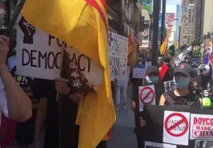 Indian, Tibetan, Vietnamese and Taiwanese diaspora take part in anti-China protest in Canada