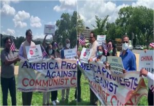 Indians, Vietnamese, Tibetans and Taiwanese hold anti-China protest at Capitol Hill