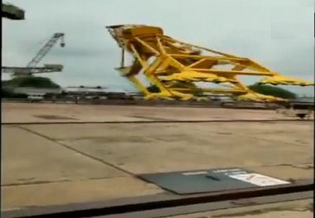 11 killed as crane collapses at Hindustan Shipyard in Visakhapatnam