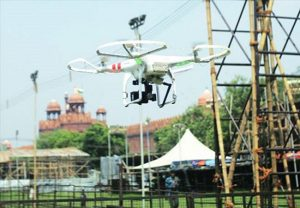 Flying drones around vital installations will now attract waging or attempting to wage war against GoI