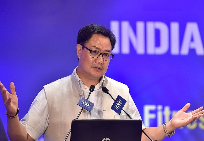 Sports Minister Kiren Rijiju to launch unique Fit India Freedom Run on August 14