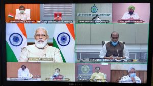 PM Modi holds COVID-19 review meeting with CMs