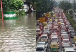 Traffic affected in various parts of Delhi amid heavy rainfall