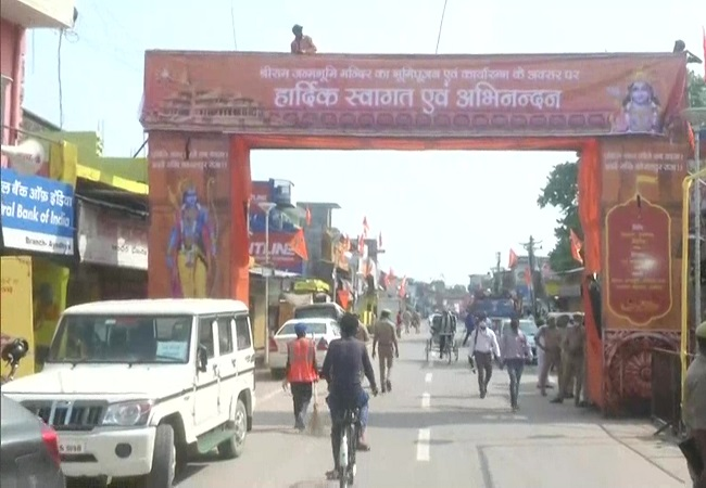 On 'bhoomi pujan' day attempts to recreate 'Tretayug' environment when Lord Ram returned to Ayodhya