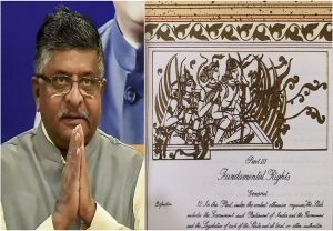 Original Constitution has links to Lord Ram and Ayodhya, tweets Ravi Shankar Prasad