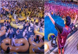Shocking images from China: Pool party in Wuhan, where Covid-19 broke out…watch out (video)