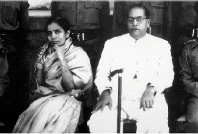 Dr Ambedkar and wife