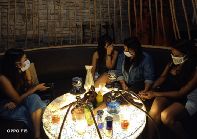 Ghaziabad hooka bar raided -