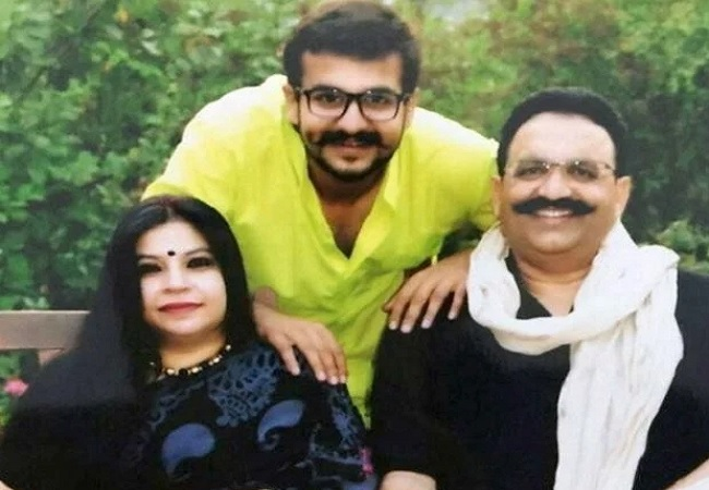 Mukhtar Ansari and family