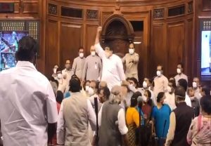 In Rajya Sabha, papers torn, Chair's mike broken; TMC, AAP and Cong MPs behind the chaos (VIDEO)