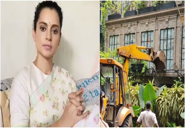 Kangana Ranaut tweets videos of destruction at her Mumbai office by BMC.. WATCH