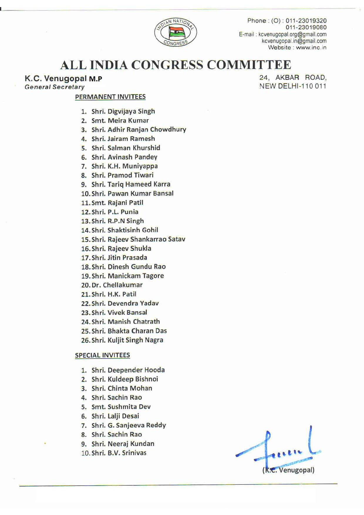 Sonia Gandhi revamps AICC, appoints new in-charges of states; reconstitutes  CWC…. Full list here