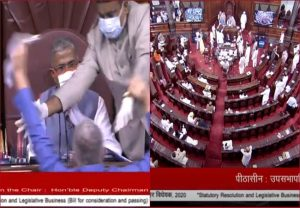 Rajya Sabha passes two farm bills giving marketing freedom to farmers, amid ruckus