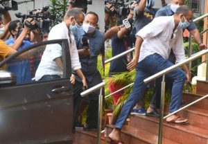 Bollywood Drug Probe: Producer Madhu Mantena arrives for questioning by NCB
