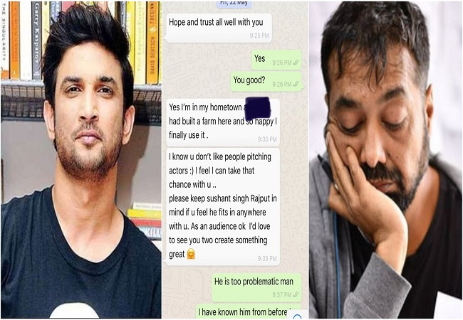 Anurag Kashyap shares WhatsApp chats with Sushant's manager, explains why whole industry has been quiet so far