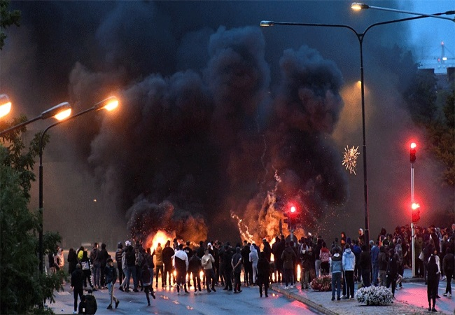 Fact Check: Video Of Egypt Pipeline Fire goes viral as scenes from Sweden riots