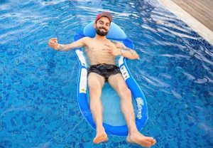 "Virat Kohli chills out in UAE heat, calls it a ""Proper Day At The Pool"""